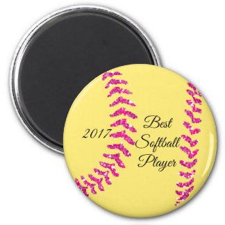 Imã Pontos cor-de-rosa do softball do brilho do falso