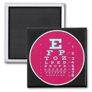 Imã Pop art da oftalmologia: Teste sua carta de olho