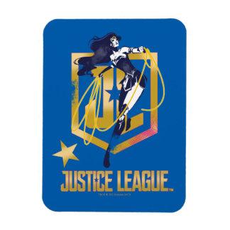 Ímã Pop art do logotipo da mulher maravilha JL da liga