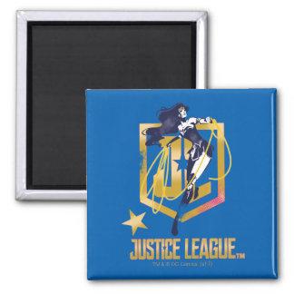 Imã Pop art do logotipo da mulher maravilha JL da liga