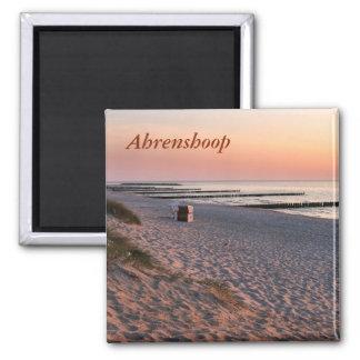 Imã Por do sol da praia de Ahrenshoop