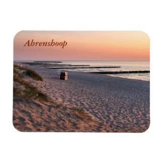 Ímã Por do sol da praia de Ahrenshoop
