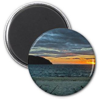 Imã Por do sol de Nova Zelândia Abel Tasman