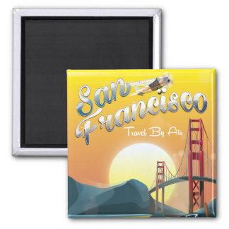 Imã Por do sol dourado pelo ar de San Fransisco
