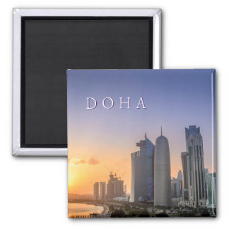 Imã Por do sol sobre a cidade de Doha, Qatar