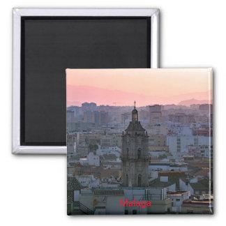 Imã Por do sol sobre Malaga