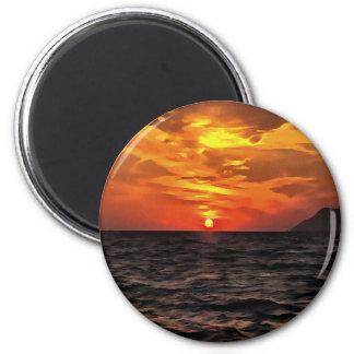 Imã Por do sol sobre o mar Mediterrâneo