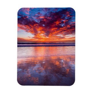 Ímã Por do sol vermelho sobre o mar, Califórnia