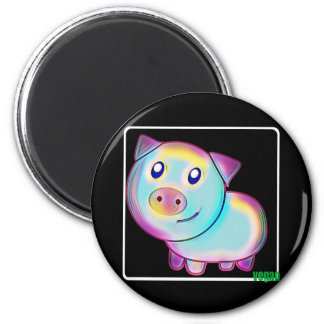 Imã Porco colorido Vegan