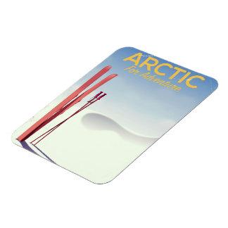 Ímã Poster ártico da exploração da aventura do vintage