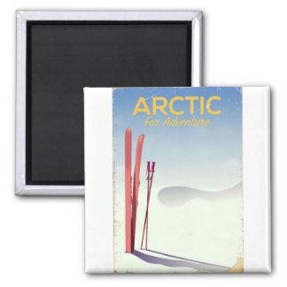 Imã Poster ártico da exploração da aventura do vintage