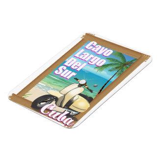 Ímã Poster cubano das férias de Cayo Largo del Sur