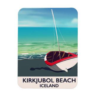 Ímã Poster das férias de Islândia da praia de