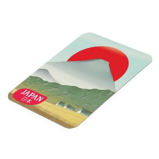 Ímã Poster das viagens vintage da montanha de Japão