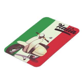 Ímã Poster das viagens vintage do patinete de Italia