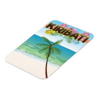 Ímã Poster de viagens da ilha de Kiribati