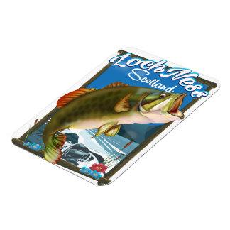 Ímã Poster de viagens da pesca de Loch Ness Scotland