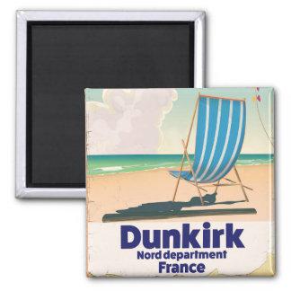 Imã Poster de viagens da praia de Dunkirk