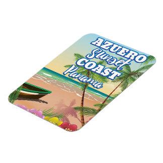 Ímã Poster de viagens da praia de Panamá da costa do