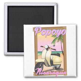 Imã Poster de viagens da praia de Popoyo Nicarágua