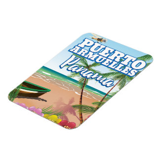 Ímã Poster de viagens da praia de Puerto Armuelles