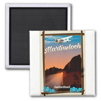 Imã Poster de viagens da suiça de Martinsloch