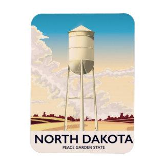 Ímã Poster de viagens da torre de água de North Dakota