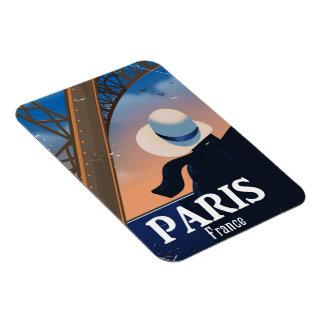 Ímã Poster de viagens da torre Eiffel de Paris France