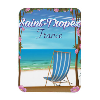 Ímã Poster de viagens de France do Santo-Tropez