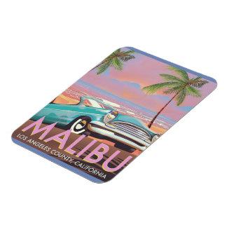 Ímã Poster de viagens de Malibu, Los Angeles,