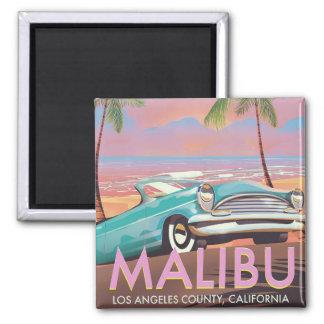 Imã Poster de viagens de Malibu, Los Angeles,