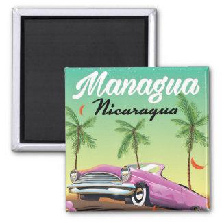 Imã Poster de viagens de Managua - de Nicarágua