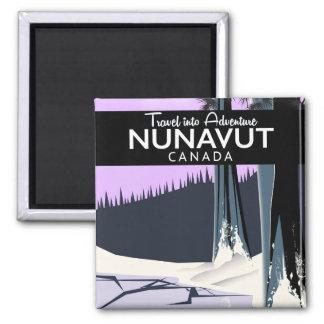 Imã Poster de viagens de Nunavut Canadá