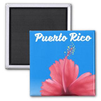Imã Poster de viagens de Puerto Rico Flor de maga