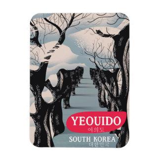 Ímã Poster de viagens de Yeouido Coreia do Sul