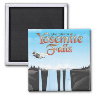 Imã Poster de viagens de Yosemite Falls Califórnia