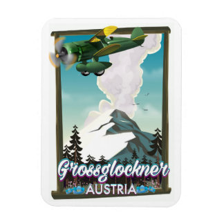 Ímã Poster de viagens do austríaco da montanha de
