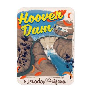 Ímã Poster de viagens do barragem Hoover