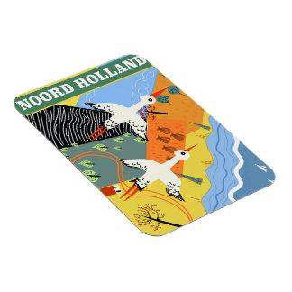 Ímã Poster de viagens do estilo do vintage de Noord