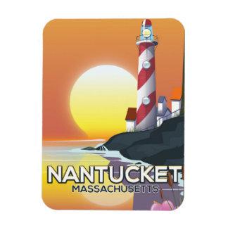 Ímã Poster de viagens do farol de Nantucket