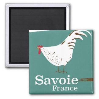 Imã Poster de viagens do galo novo de Sabóia France