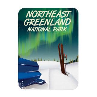 Ímã Poster de viagens do nordeste de Greenland