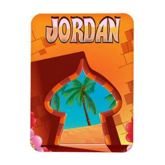 Ímã Poster de viagens do palácio de Jordão