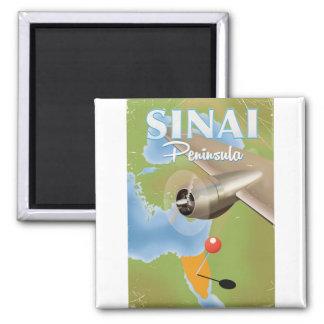 Imã Poster de viagens do vôo da peninsula do Sinai
