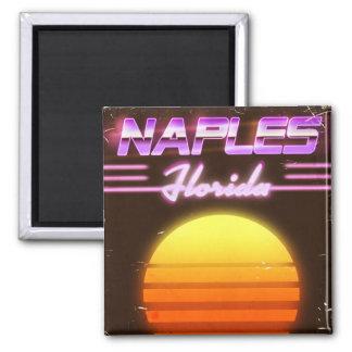 Imã Poster de viagens dos anos 80 de Nápoles Florida