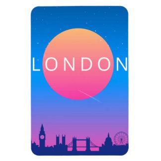 Ímã Poster de viagens dos marcos de Londres