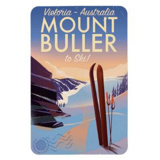 Ímã Poster do esqui do vintage de Buller Austrália da
