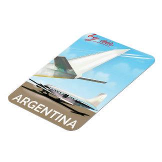 """Ímã Poster do vôo do vintage pelo ar de Argentina """""""""""
