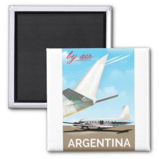 """Imã Poster do vôo do vintage pelo ar de Argentina """""""""""