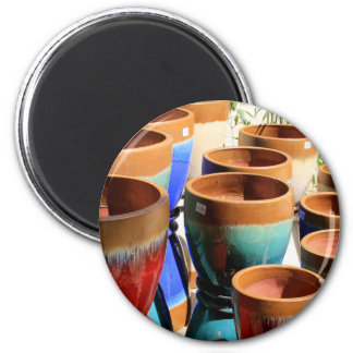 Imã Potes coloridos da planta de jardim